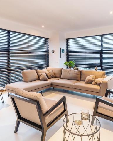 woonkamer met modern salon