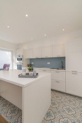 Keuken met retro tegels